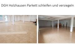 DGH Holzhausen Parkett schleifen und versiegeln