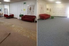 Krankenpflege Schule Teppich verlegt
